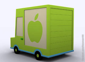 3d Delivery Truck - 3ds Max 2010 - Default Render