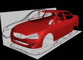 3d Car by faizansari90