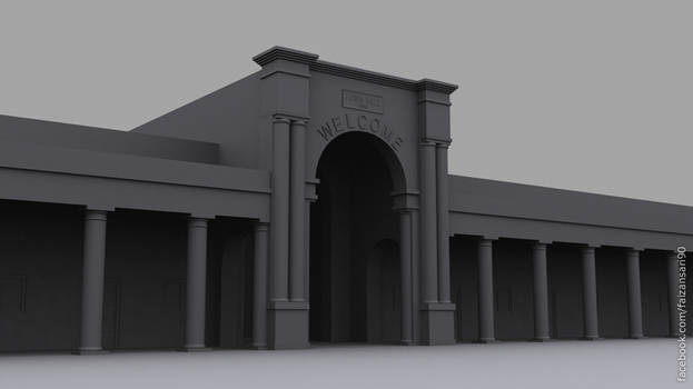 3d model of a Town Hall