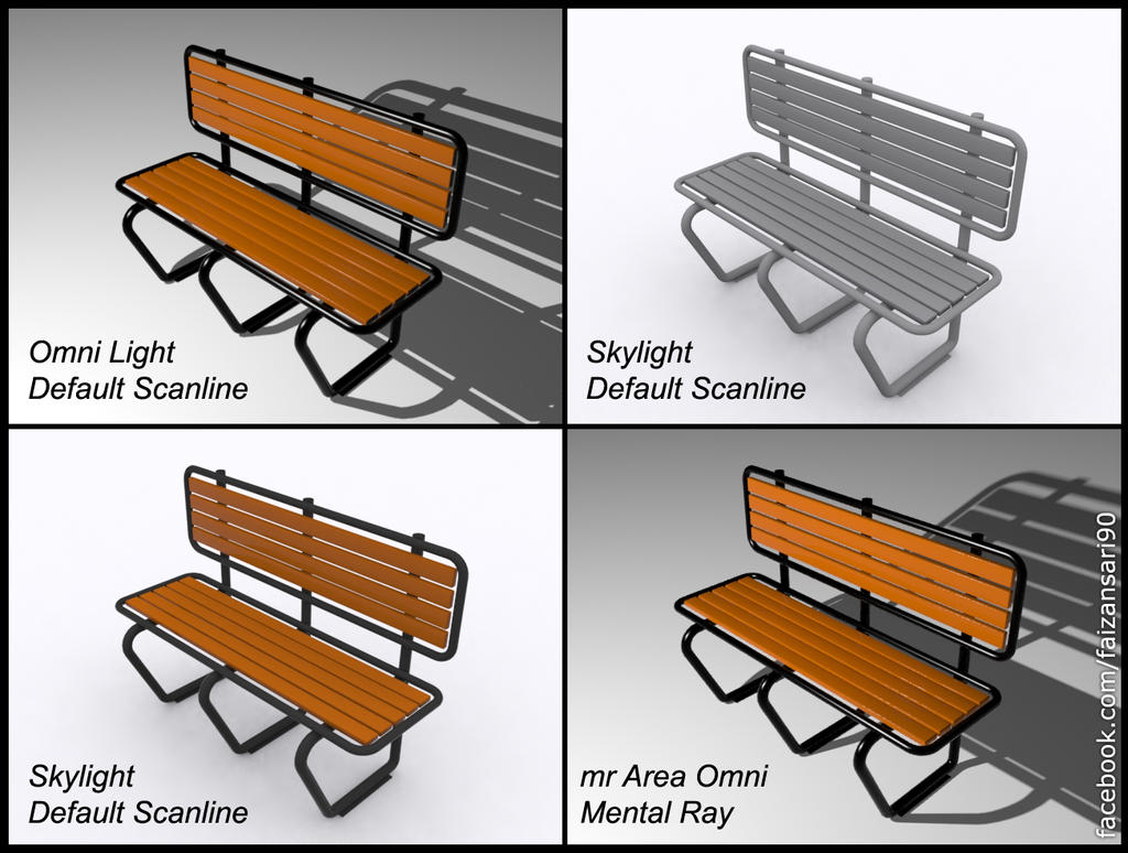 3d Bench by faizansari90