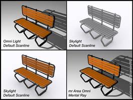 3d Bench by faizansari90