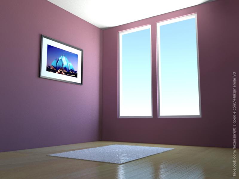 My first interior design in 3ds max 2010 by faizansari90