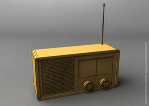 Simple Wireframe Rendered Radio Model - 3ds Max 20