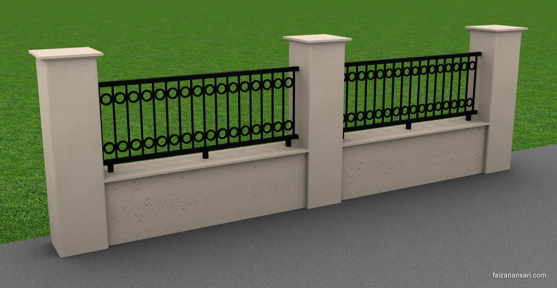 Fence - 3ds Max 2010 by faizansari90