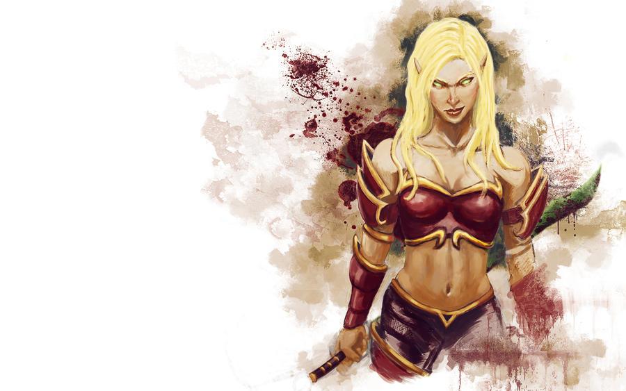 Blood Elf Warrior by brianlaborada