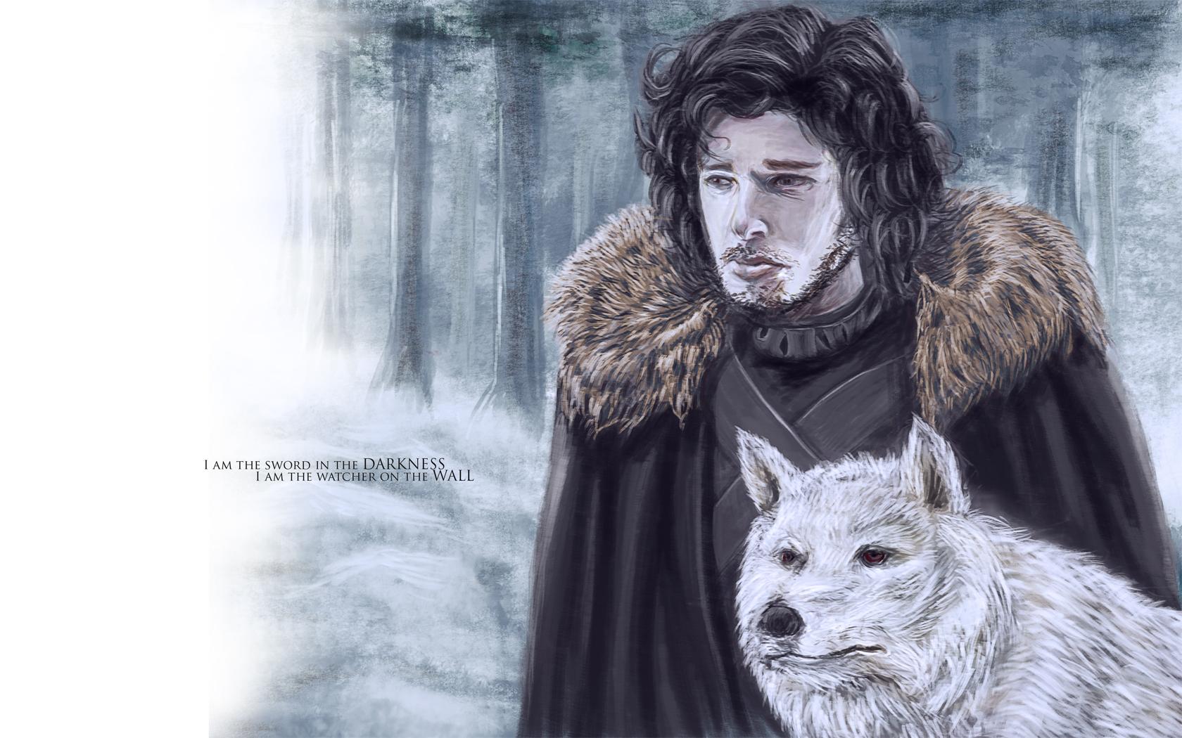 Jon Snow of the Night's Watch by brianlaborada