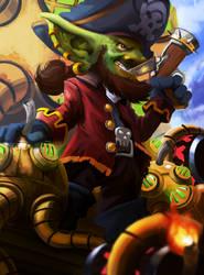 Gaarhblin The Pirate Goblin by rlanghi