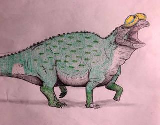 Dinovember Day #1: Edmontosaurus annectens by MonsterZero-01