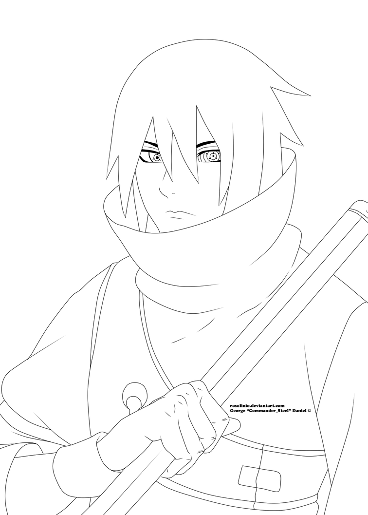 Sasuke Lineart : Sasuke the last lineart by rosolinio on deviantart