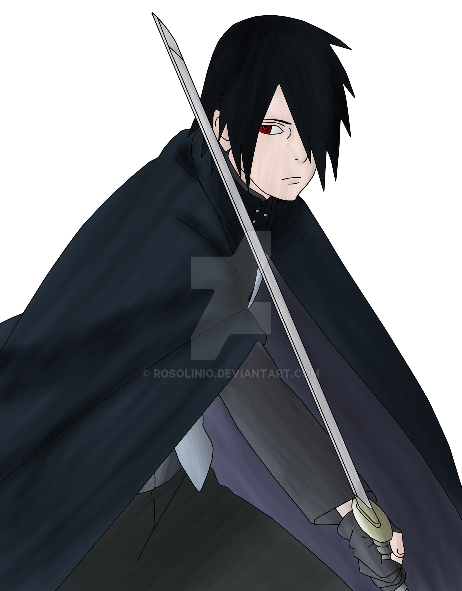 Uchiha sasuke boruto the movie lineart colored by - Adult manga 2 ...