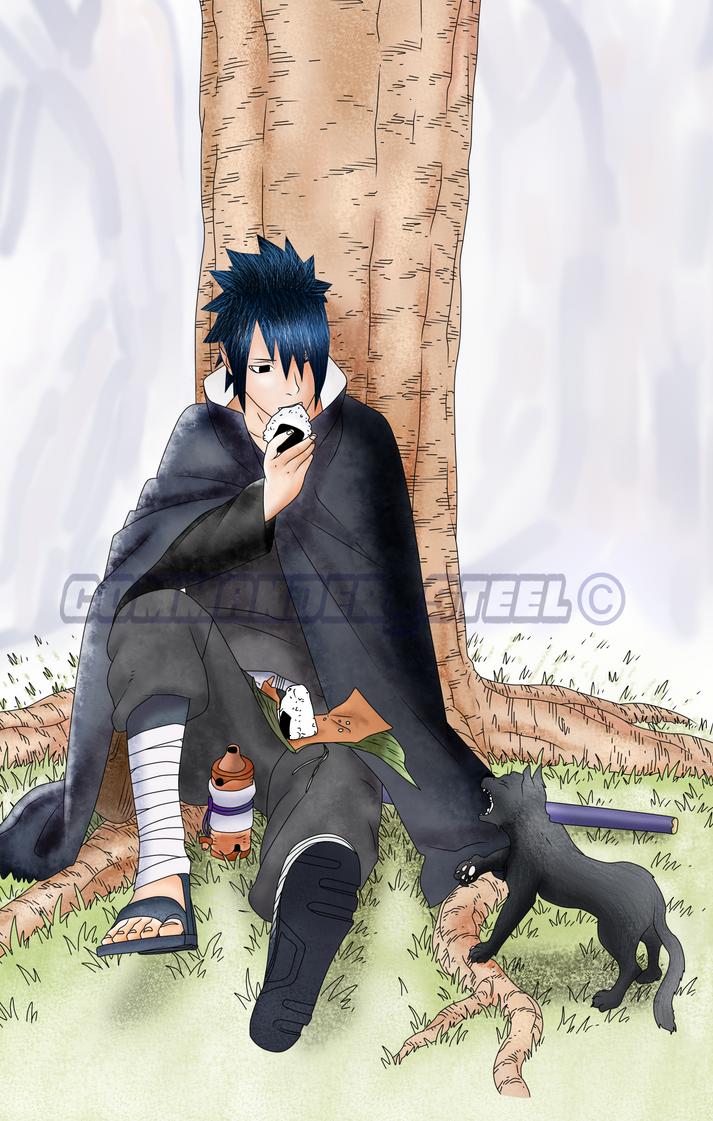 Sasuke Shinden Cover Colored by rosolinio