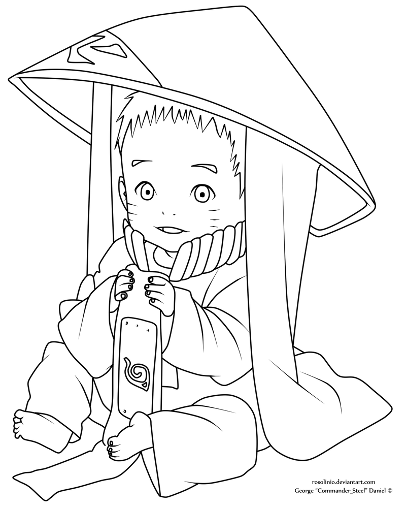 Line Art Ks : Baby naruto lineart by rosolinio on deviantart