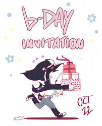 B-day invitation (Art trades)