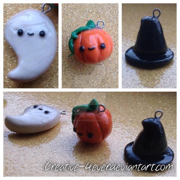 Halloween Kawaii Charms by Creative-4ever on DeviantArt