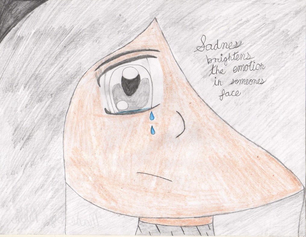 Line Drawing Of Sad Face : Sad face drawing by thorni drimus on deviantart