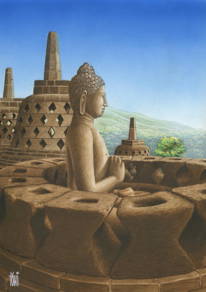 Borobudur by toniart57