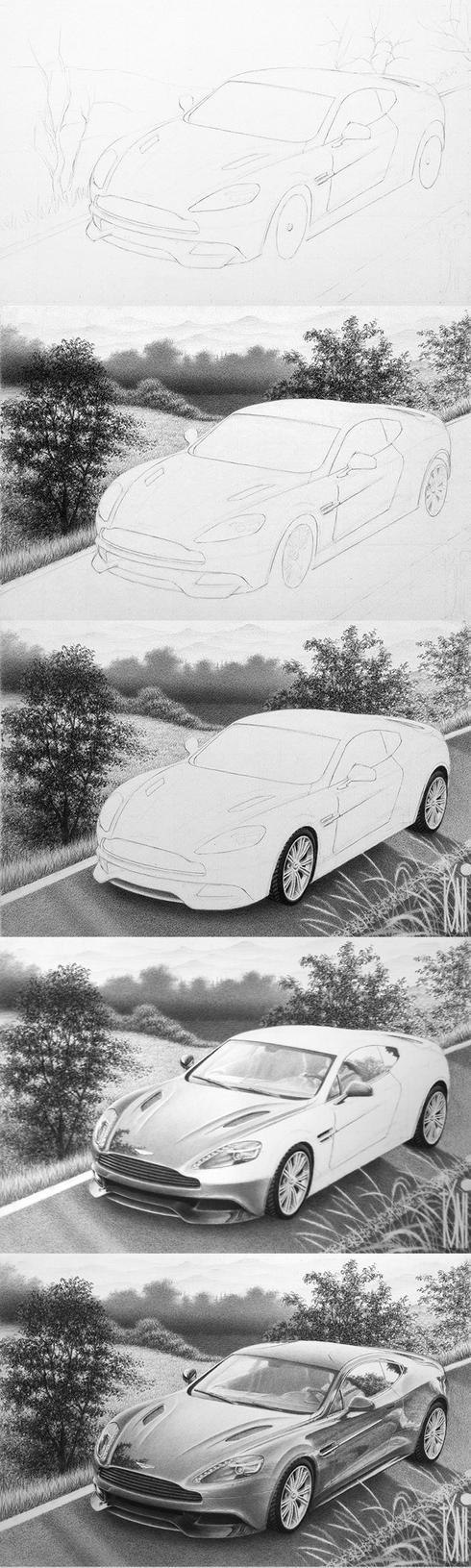 Aston Martin Vanquish W.I.P by toniart57