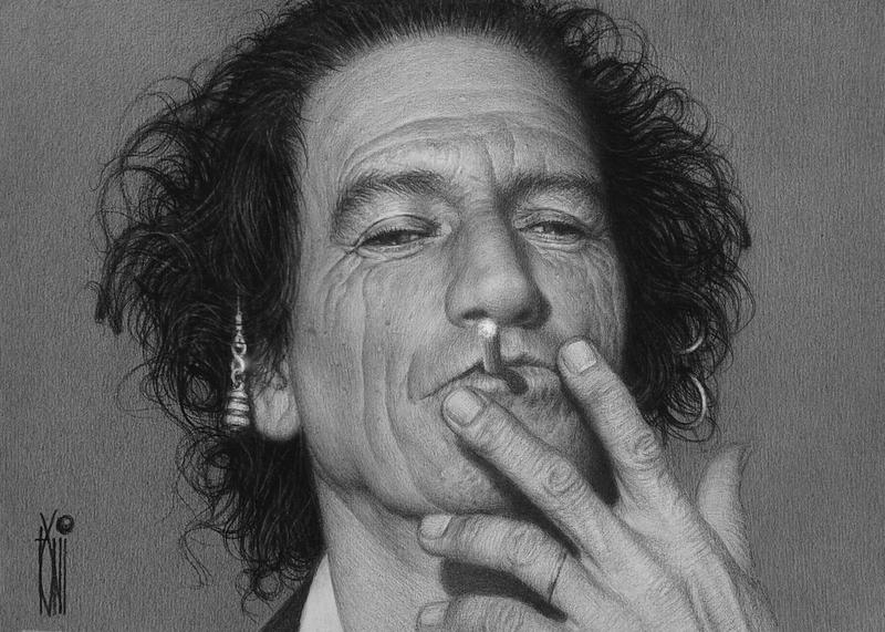 keith richards by toniart57