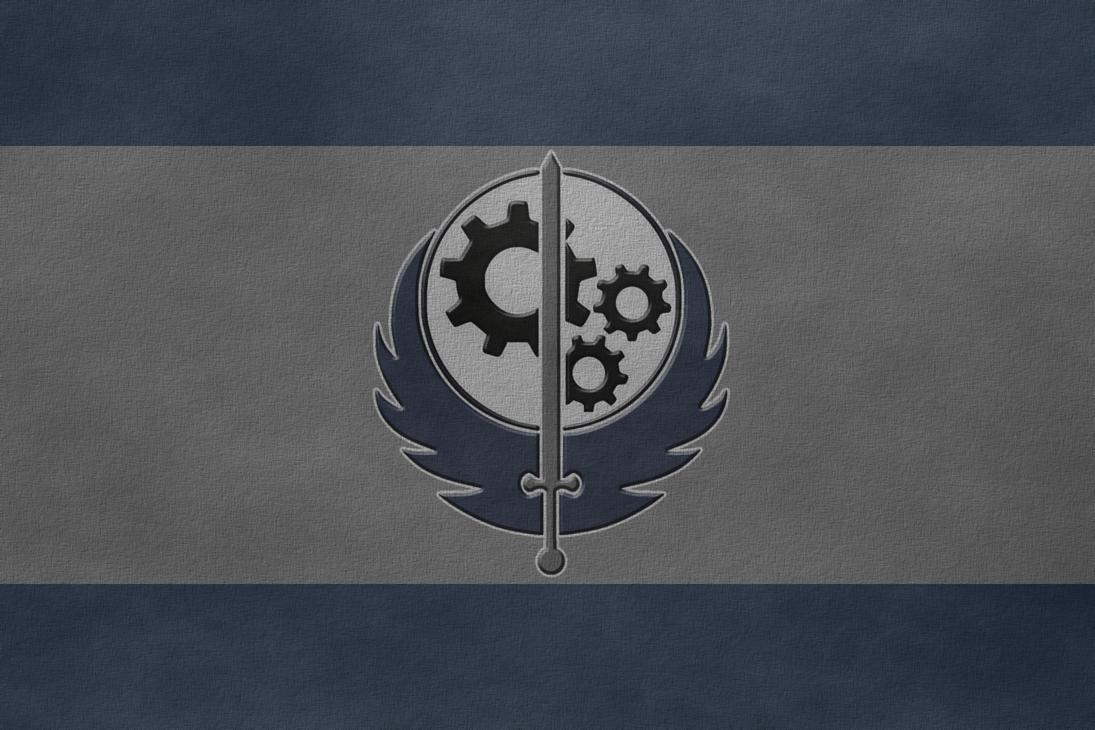 brotherhood of steel flag by undeadspark on deviantart