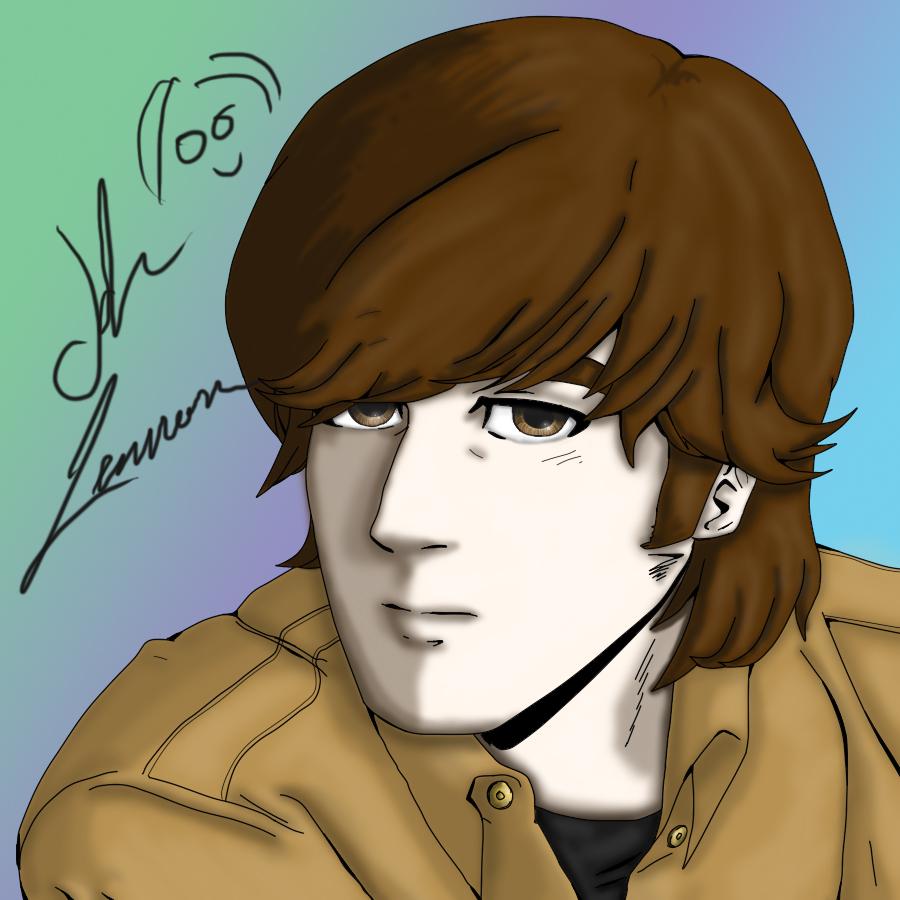 Line Drawing John Lennon : John lennon coloured by merthurandbeatles on deviantart