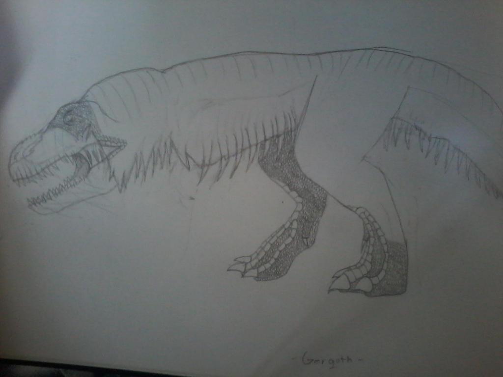Sketch of the Day #1! Gergoth, from Castlevania by JurassicJuan