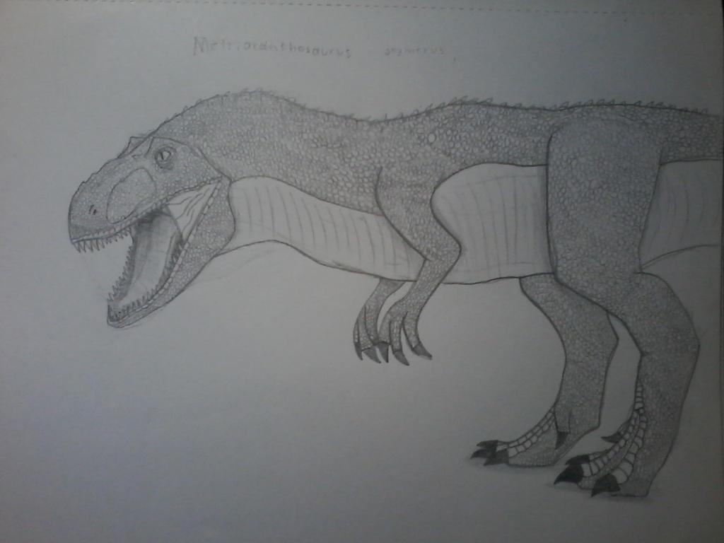 Sketch of the Day #2! Metriacanthosaurus by JurassicJuan