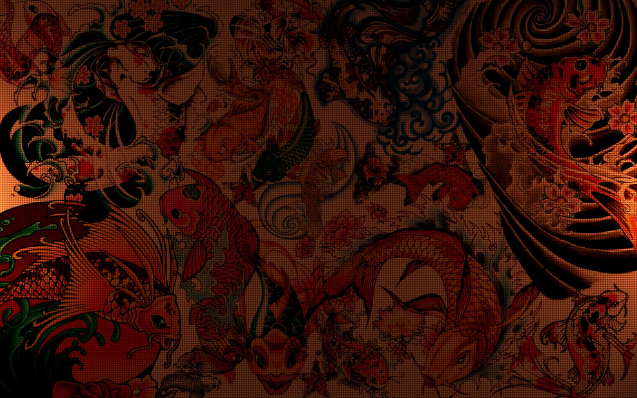 Koi drawing page 2 for Koi fish wallpaper for walls