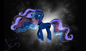 Moonlight in Her Eyes, Stars in Her Hair - Redone by Emy-ai