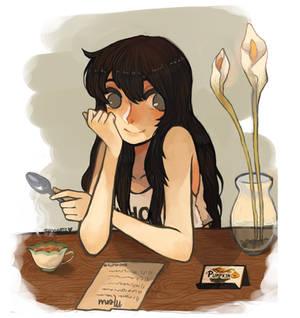 Pumpkin Online Cafe Girl