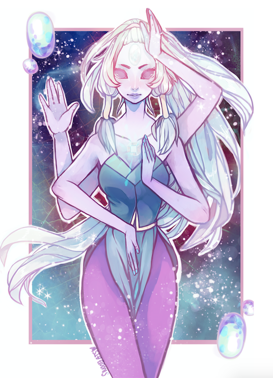 Made some changes and things to my opal painting to optimize it for prints! if you want to purchase a print, they're available over at my redbubble! <3  www.redbubble.com/people/swoob…