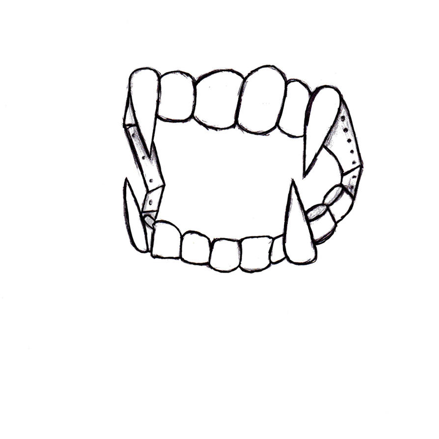 Tooth Line Drawing Tumblr : Vampire teeth drawing pixshark images