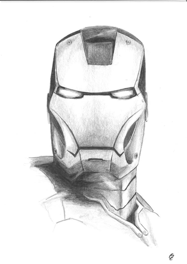 Ironman by KiriJirii Iron Man Pencil Drawings