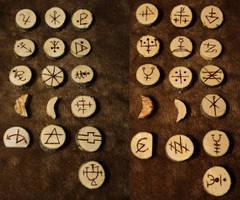 Wood rune set by LeTrefle