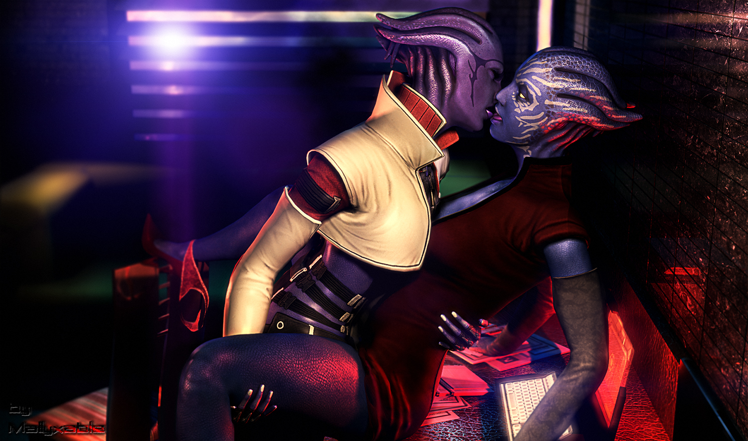 Aria with Tevos ^^ by Mallyxable