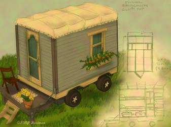 Gypsy Wagon for 6 by moonfreakformula