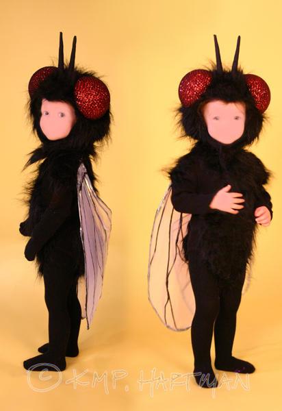 Как сделать костюм мухи для мальчика