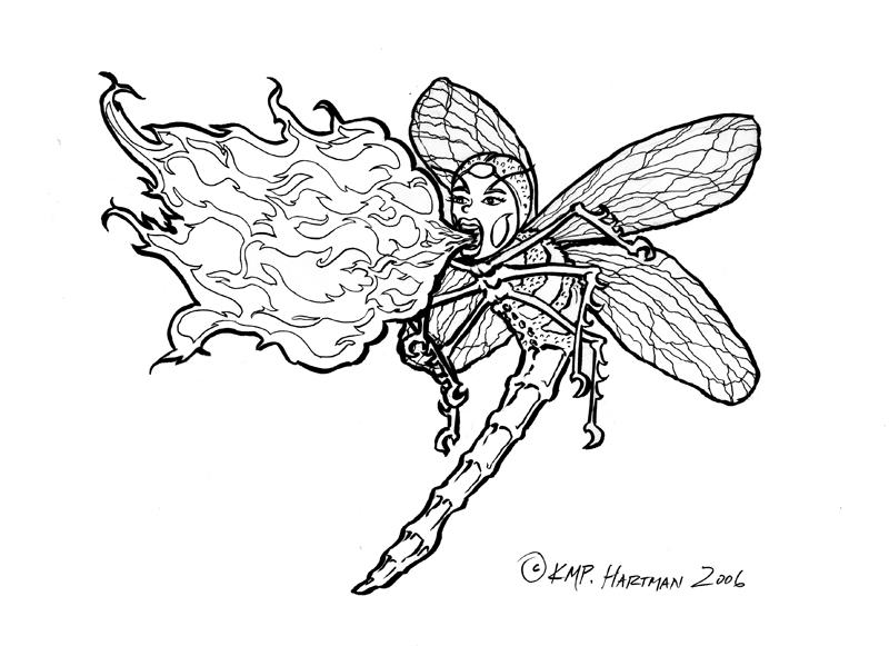Dragonfly Tattoo Line Drawing : Dragonfly line art by moonfreakformula
