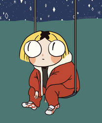 Kenma under the night sky