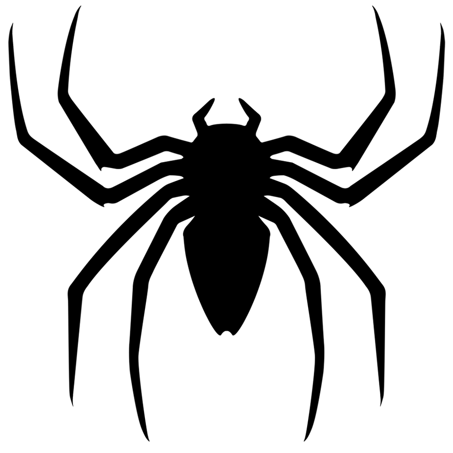 spiderman logo outline