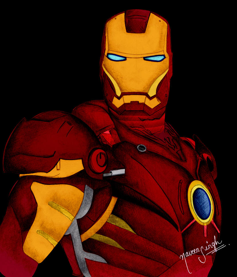 Ironman_drawing by NAVDBEST