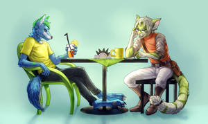 Date at the cafe