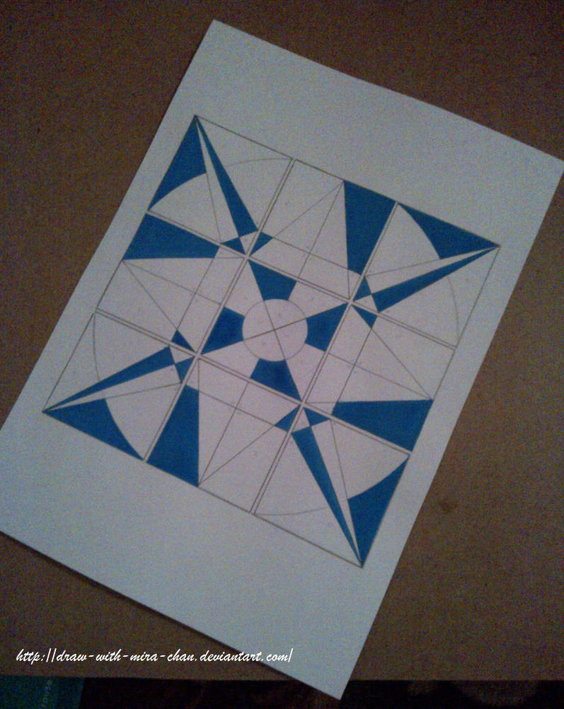 Abstract Geometric Shapes 3x3 Progress By Draw With Mira