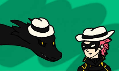 Gerome and Minerva with Fedoras