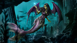 COMMISSION: VAMPIRE MERMAID by caturchandra