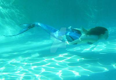 Swimming Mermaid Underwater by bluemermaiddesigns