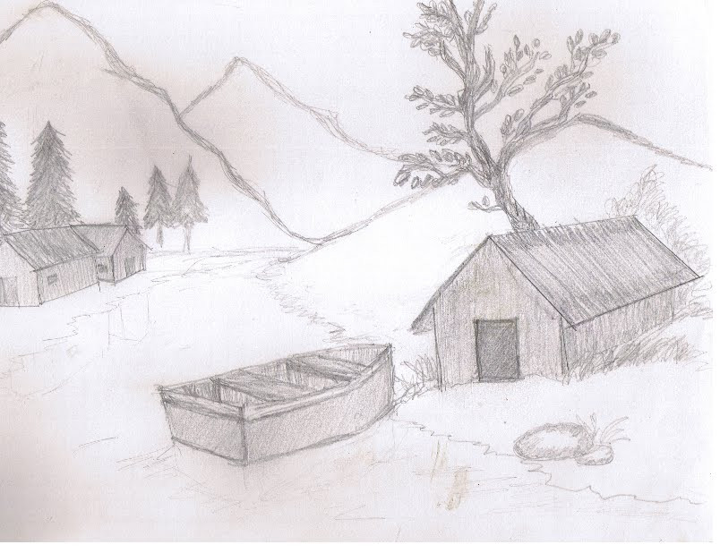 hut n boat-rural scene by Preettisen on DeviantArt
