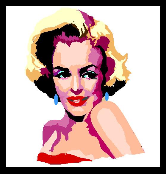 MsPaint Monroe by Preettisen