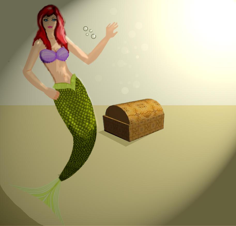 mermaid treasure by Preettisen