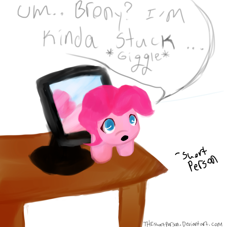 pinkie pie is stuck by THEshortperson