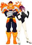 [BNHA CANON+OC] EnjixMitsuko: Heroic costumes